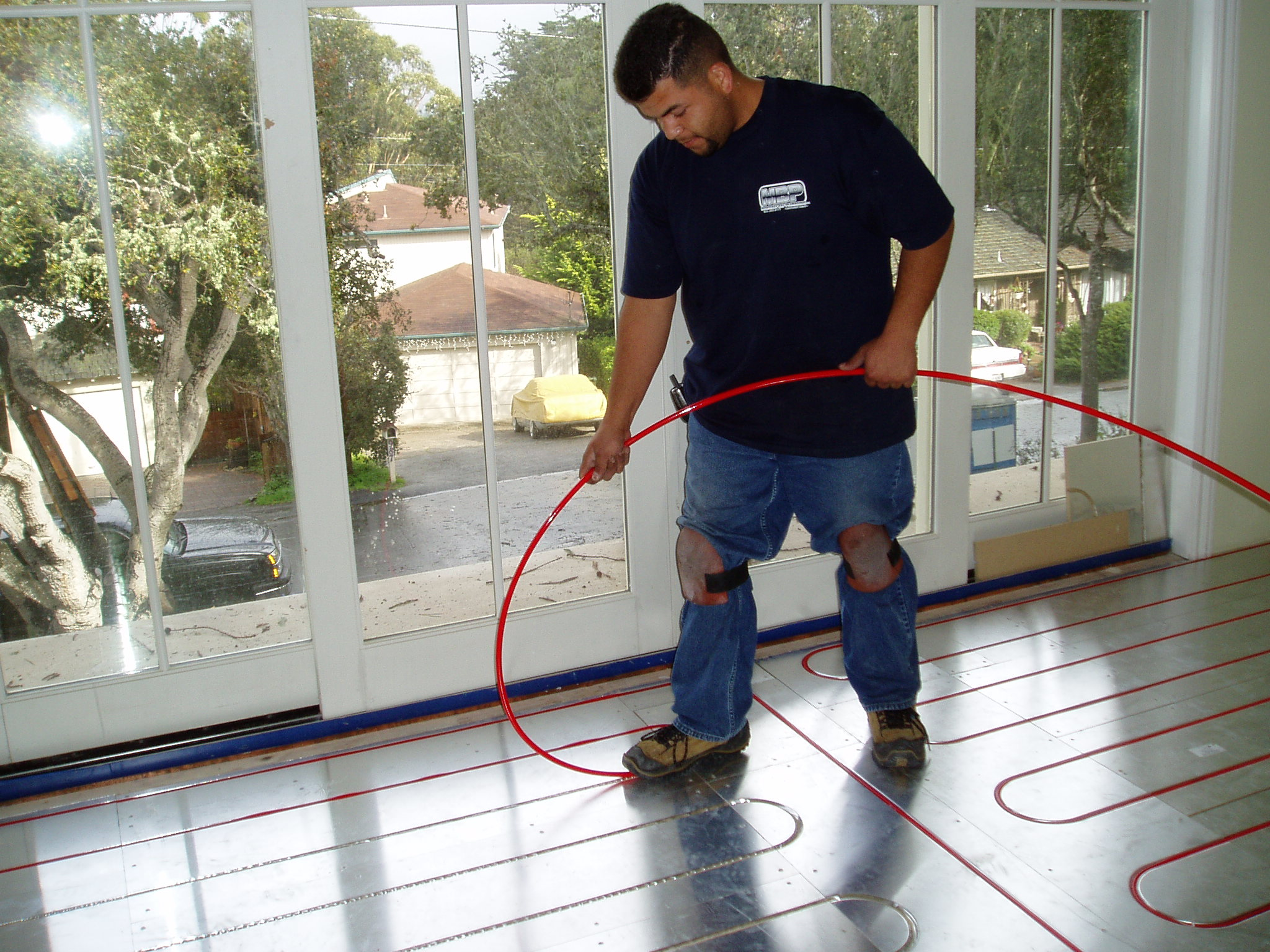 "Thermalboard ""walk in"" tubing makes installation fast and easy."