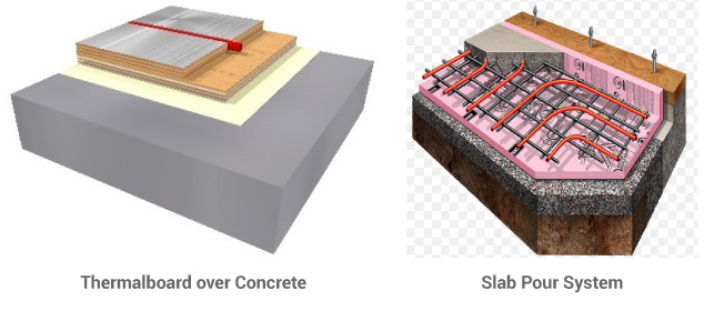 Thermalboard Compared to Concrete Slab